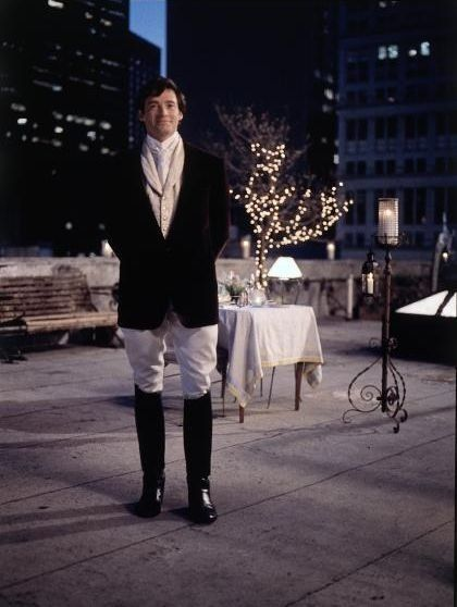 Hugh Jackman in Kate & Leopold  I love the roof top décor created for this movie so romantic