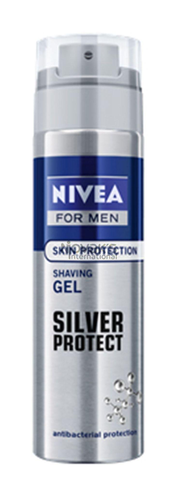Nivea FM gel na holení Silver Protect 200ml ´