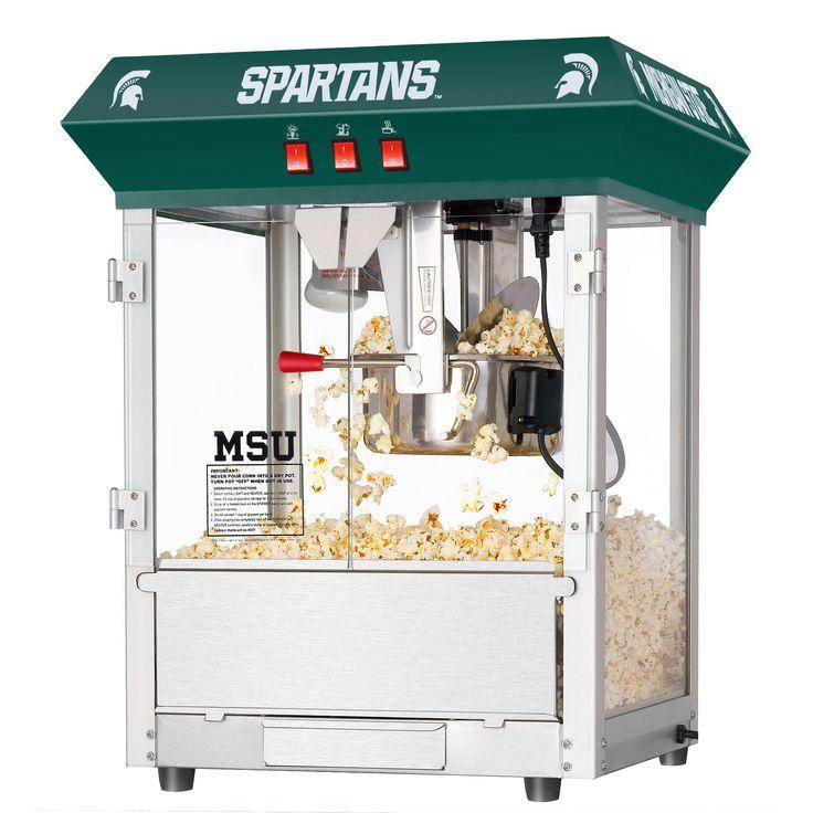 Great Northern Michigan State University MSU Spartans 8 Ounce Table Popcorn Machine (6220 MSU 8OZ Top Green)