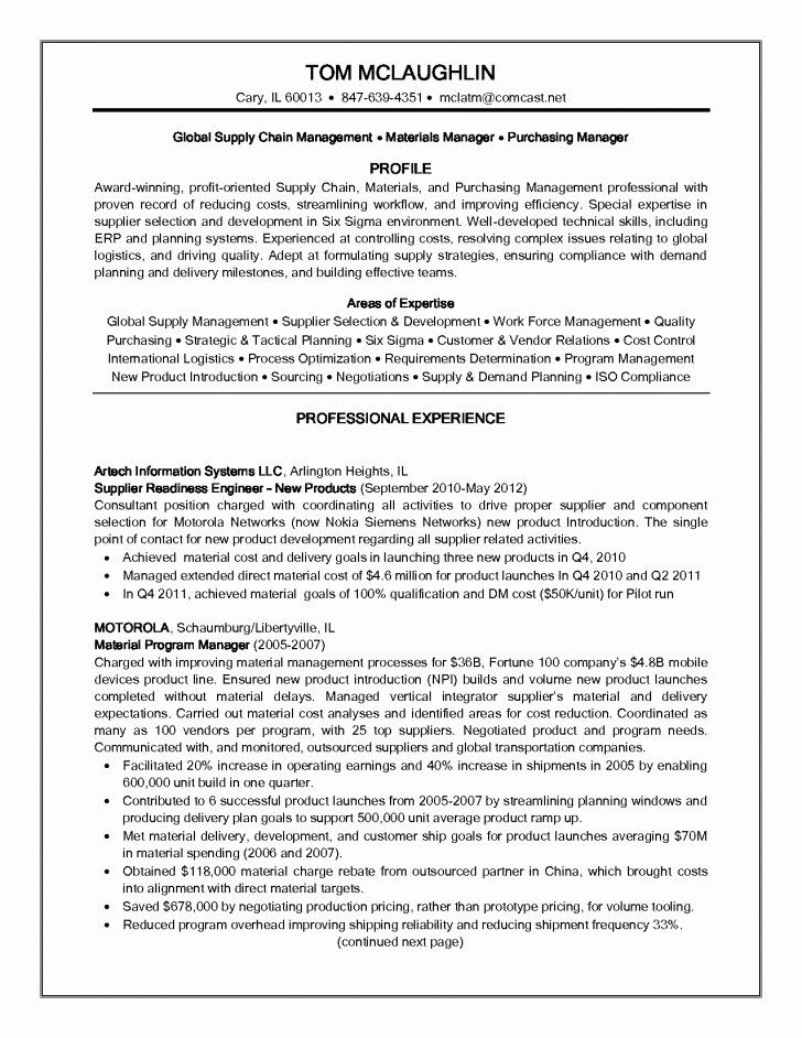 Supply Chain Resume Examples Lovely Supply Chain Analyst Resume In 2020 Resume Skills Resume Objective Examples Resume Examples