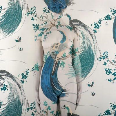 This image not only captures a classic Florence print - Peacocks - but also speaks to the essence of her as a person. She was very risqué, creative and forward thinking woman (a feminist before her time) and would most likely have loved this idea.