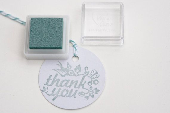 Laurel Leaf grijs groen VersaColor stempelkussens door MissHoneyBird, €2.54