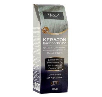 Tonalizante Keraton sem Amônia Banho de Brilho Prata 100g - Kert - Perfumaria Seiki