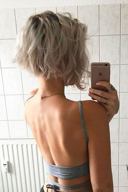10 Trendy Messy Bob Frisuren, kurze Haare weibliche Frisur