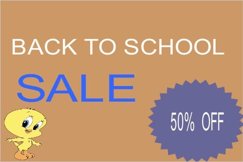Back To School Sale - School Banner