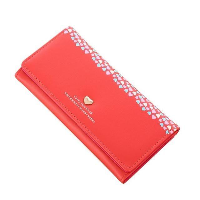 2017 Fashion New Brand Women's Purse Wallets Ladies Clutch Love Heart Pattern Coin Purse Long Wallet Card Holders Female Wallet