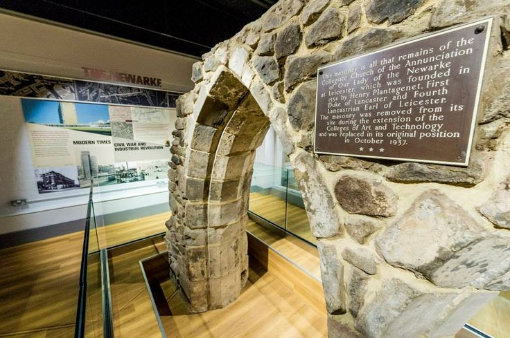 These arches - all that remains of the Church of the Annunciation - where Richard III's body lay after the Battle of Bosworth - are the centrepiece of the De Montfort University Heritage Centre