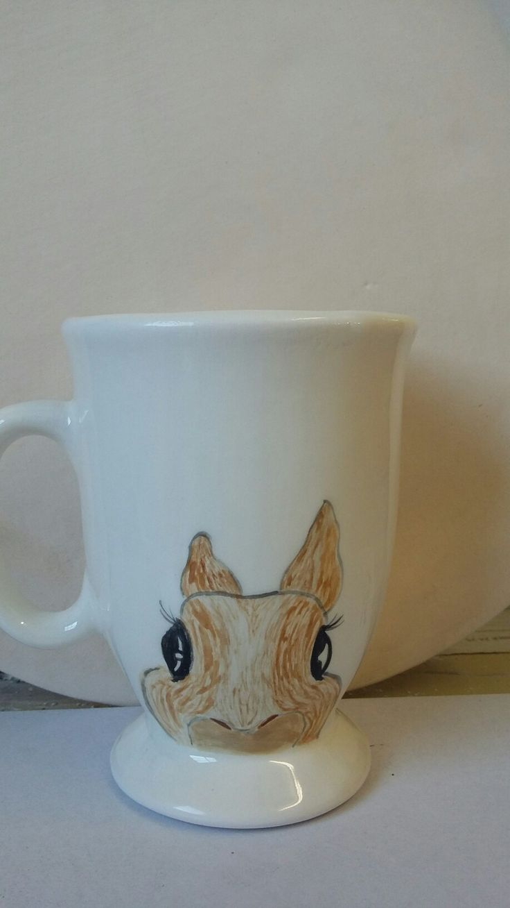 Cute little bunny easter mug