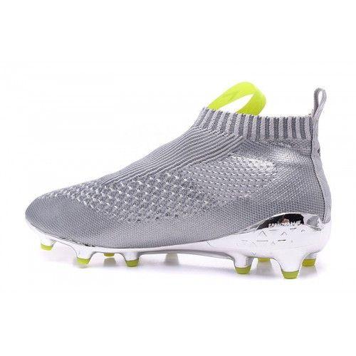 023eaeedf9a0c 2016 Adidas Ace16+ Purecontrol FG-AG Botas De Futbol Silver