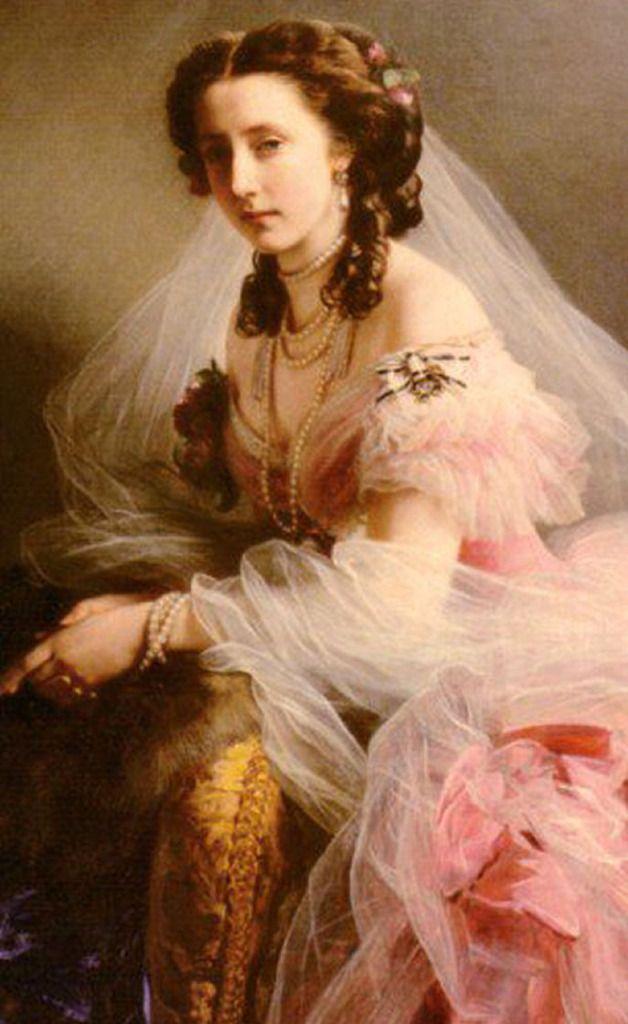 Princess Anne of Hesse. Painting by Winterhalter.Franz Xaver Winterhalter, Queens Victoria, Art, Royal Portraits, Canvas, Princesses Anne, Painting, Princesses Alice, Antiques