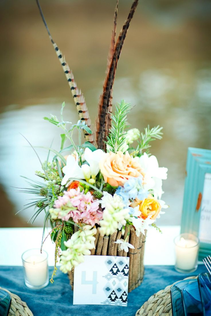 Southwestern Boho Chic Centerpiece // Photo by AK Studio & Design, design by Forevermore Events, floral by Bloomers