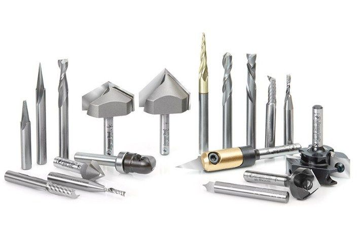 18-Pc Signmaking Advanced CNC Router Bit Collection, 1/4 Inch Shank