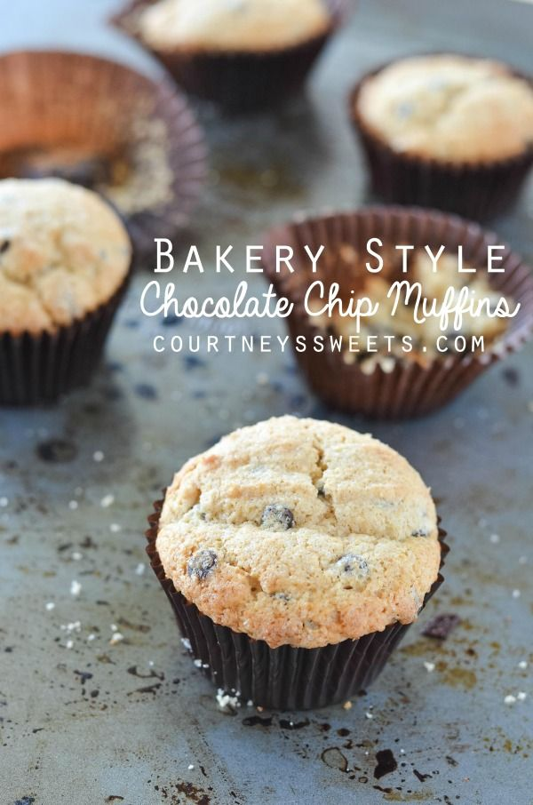 Bakery Style Chocolate Chip Muffins Recipe Desserts