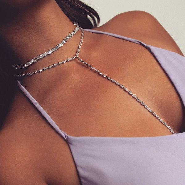 Bella Choker; glam choker, shiny choker, choker, rihanna, adjustable... ($180) ❤ liked on Polyvore featuring jewelry, necklaces, bridal diamond jewelry, diamond necklace, wedding jewelry, diamond choker necklace and diamond jewellery