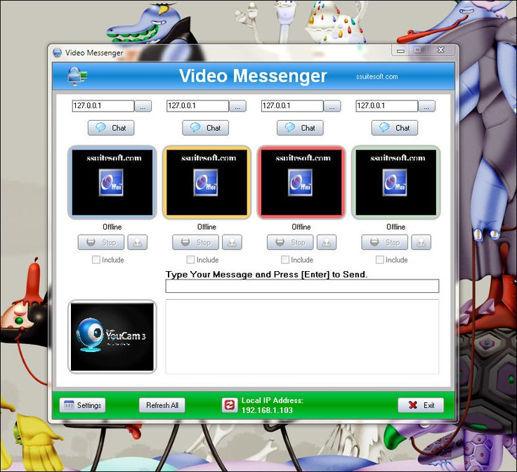SSuite Office IM Video Chat - IM video chatting with multiple client windows for all networks.