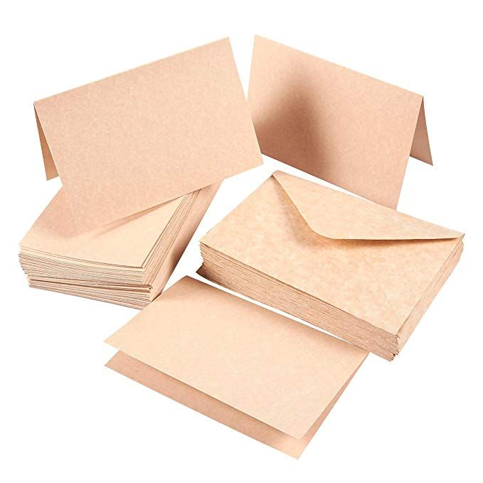 Set Of 48 A4 Invitation Envelopes And 4 X 6 Blank Greeting Card