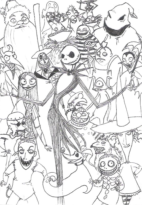 the nightmare before christmas coloring page - Coloring Or Colouring