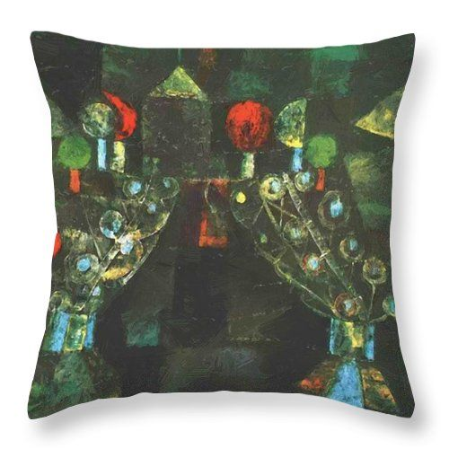 Women Throw Pillow featuring the painting Women Pavilion 1921 by Klee Paul