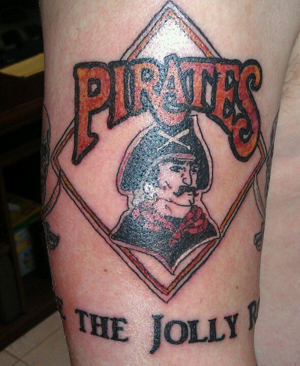 Pittsburgh pirates 39 90s logo tattoo raise the jolly for Pittsburgh tattoo ideas