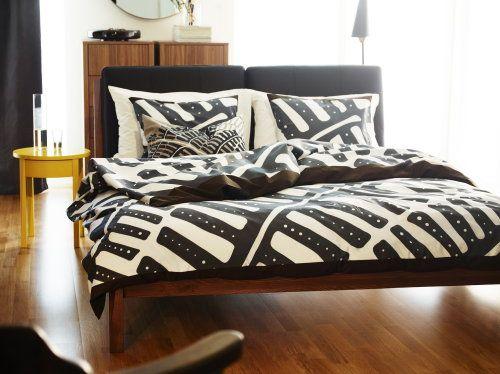 Ikea Bedroom Trends – Stockholm Ikea Bed and Bed Linen, Scandinavian Retro #Ikea #Bedroom