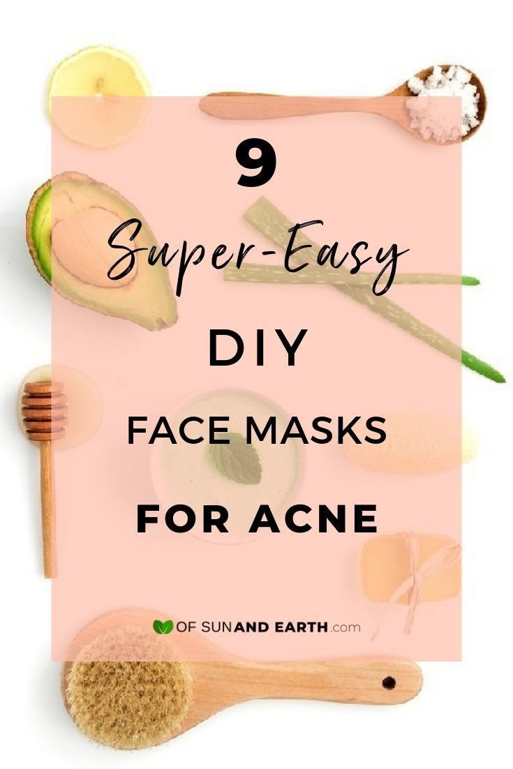 9 Super Easy Diy Face Masks For Acne With Images Easy Face