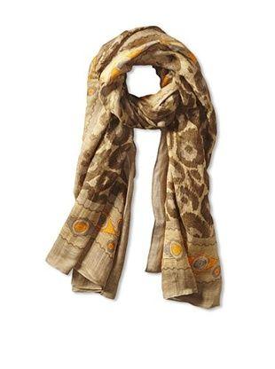 63% OFF Theodora & Callum Women's Manasa Tie-All Scarf/Pareo, Olive Multi