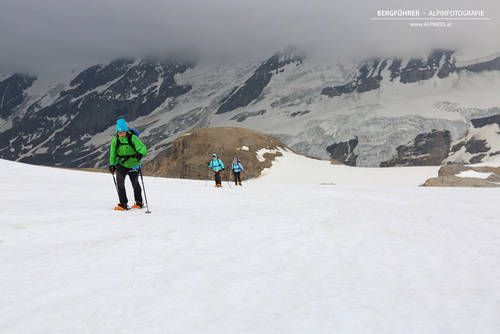 Einfache Hochtouren rund um die Oberwalderhütte hoch über der Großglockner Hochalpenstraße mit dem Bergführer von Alpindis.at (Heiligenblut, Pasterze, Kärnten)