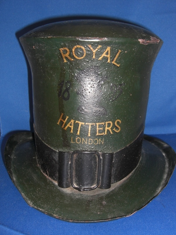 Antique English Hat Maker's Trade Sign Dated 1895