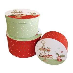 Boites en carton avec décor Cupcakes de Noël - Déko Passion