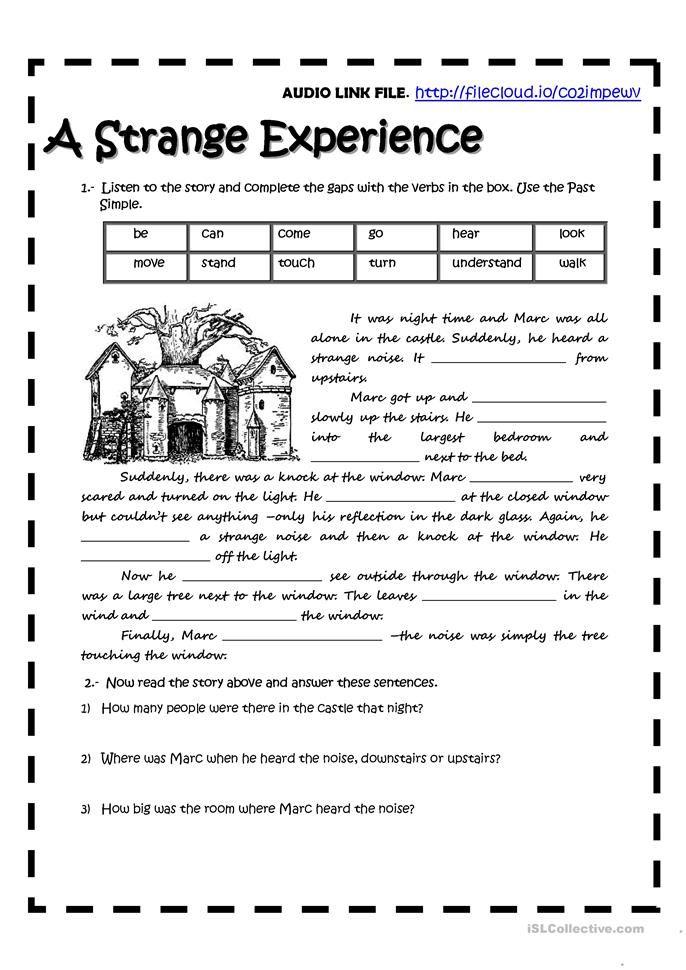 A Strange Experience English Writing Skills Writing Skills Learn English