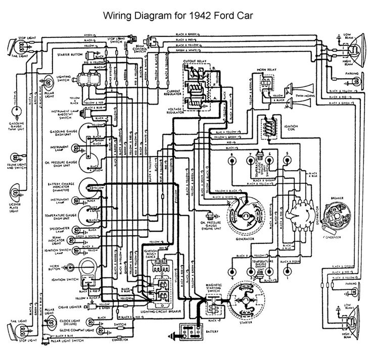 1942 Ford Wiring Diagram Ford Tractor Ignition Switch Wiring Diagram