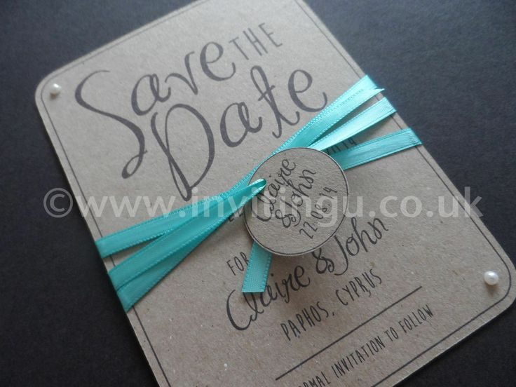 Vintage style Save the Date card. 'Oh So Pretty' from ©www.invitingu.co.uk