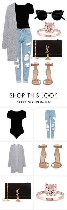 """casual outfit"" by fashionblogger2122 on Polyvore featuring Boohoo, Topshop, Acne Studios, Gianvito Rossi and Yves Saint Laurent"
