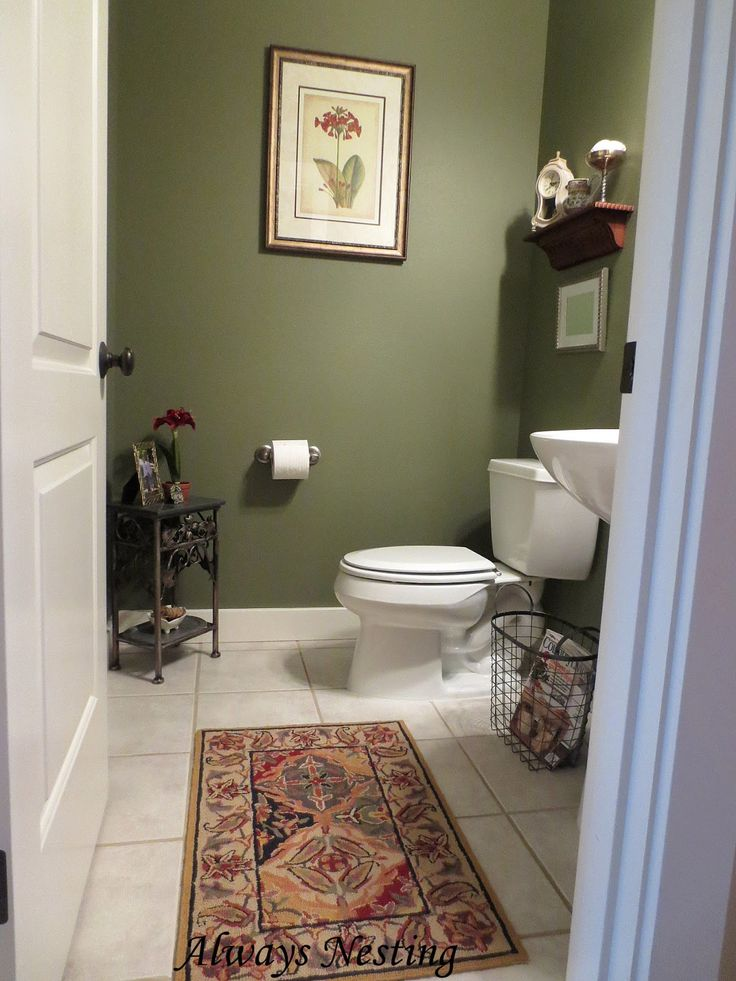 21 best powder room ideas images on pinterest lavatory for Powder room bathroom ideas
