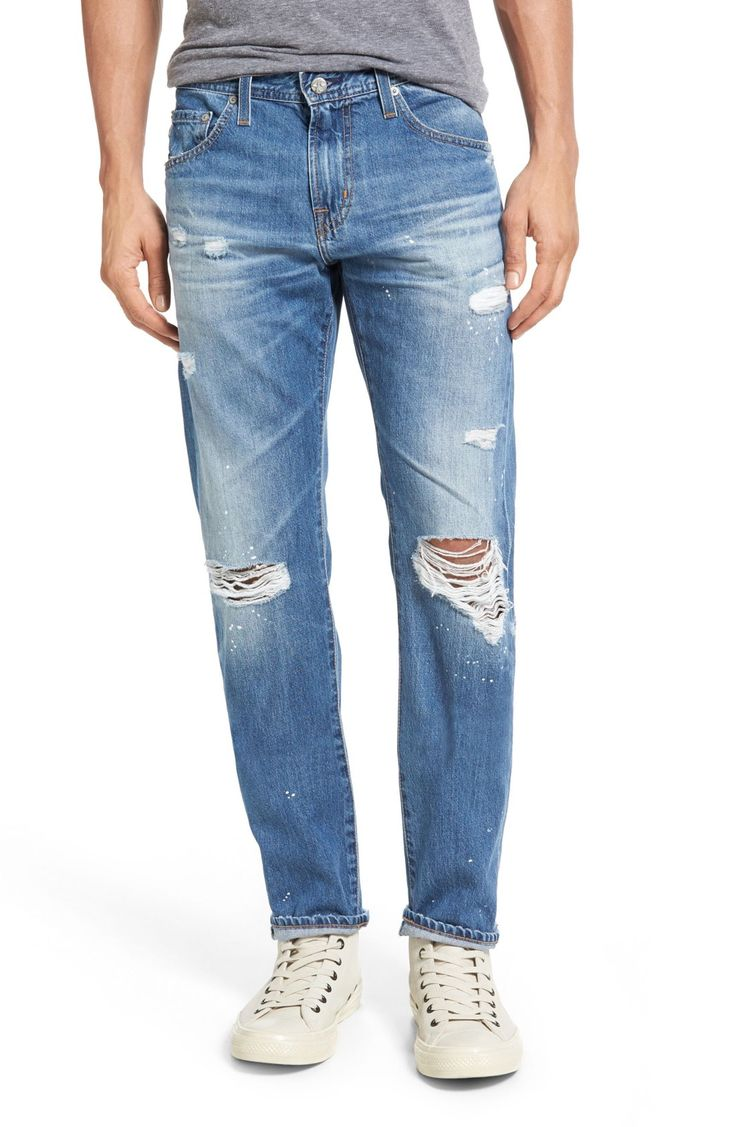 Best Men's Jeans: AG Slim Ripped with Holes