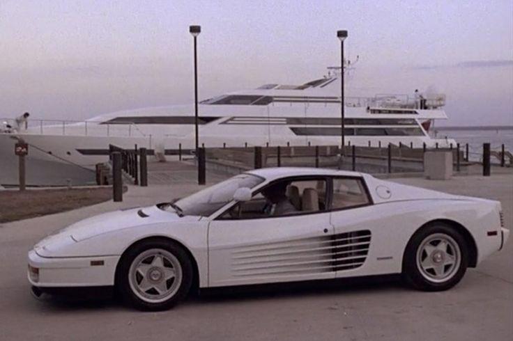 Miami Vice 1986 Ferrari Testarossa: Ferrari didn't like the black Daytona replica the 1984-'89 NBC series was using, so it provided two white Testarossas for Season Three.