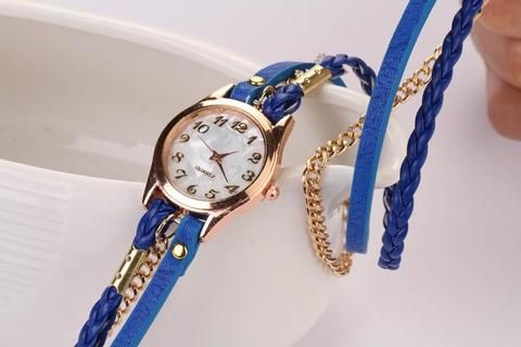 Best Strap Braided Winding Rivet Bracelet Bayan Saatleri