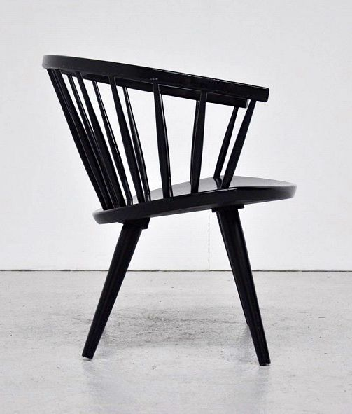 Yngve Ekström; Lacquered Wood 'Arka' Chair for Stolfabriks AB, 1955.