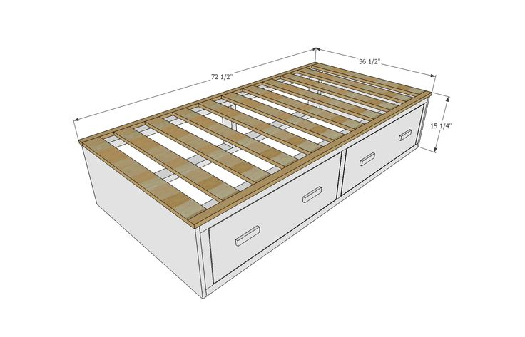 Ana White | Build a Alaska Cabin Daybeds or Captain Beds with Storage Drawer Areas | Free and Easy DIY Project and Furniture Plans