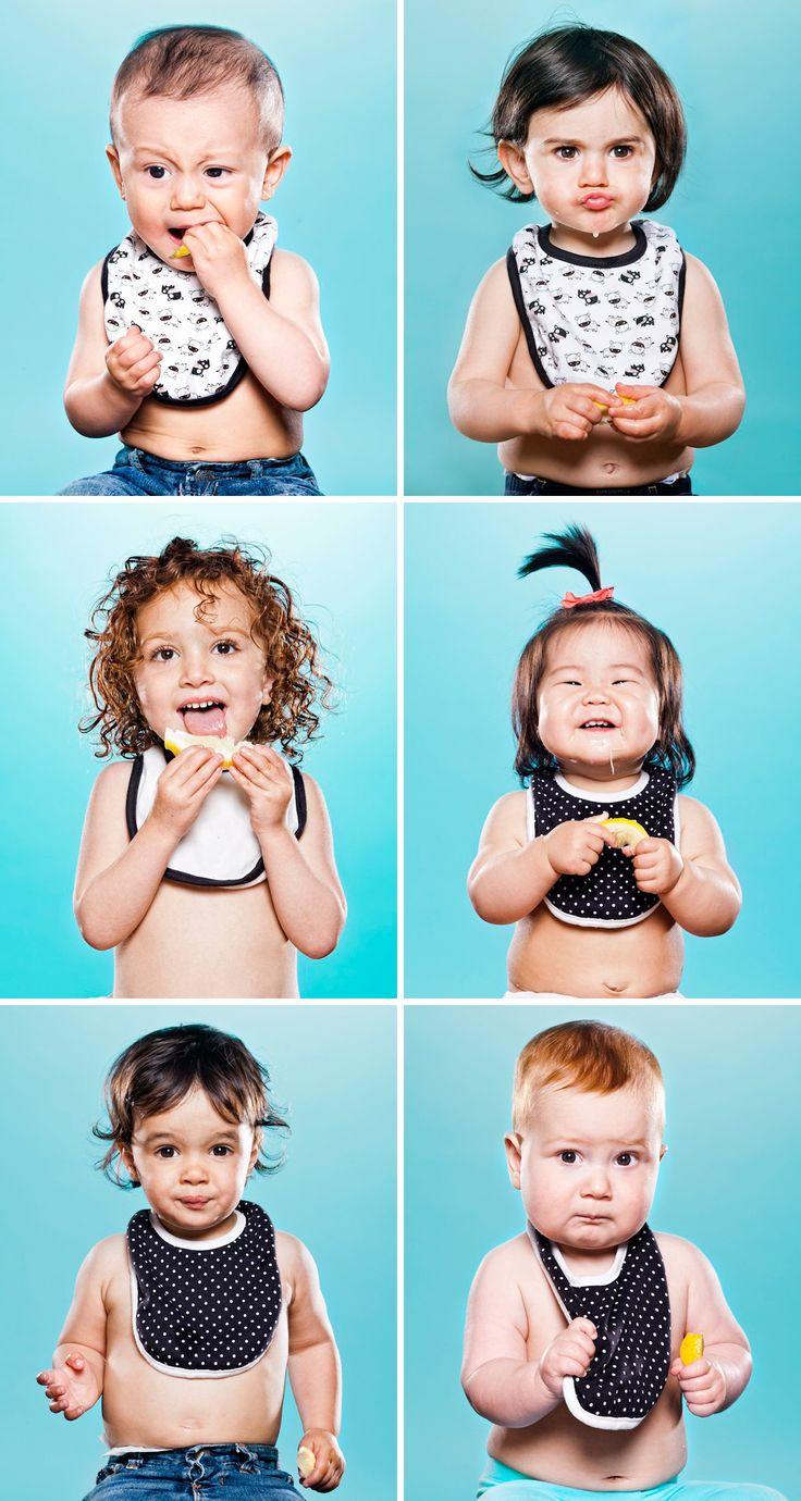 Rozkošné tváre detí, ktoré prvý krát okúsili citrón