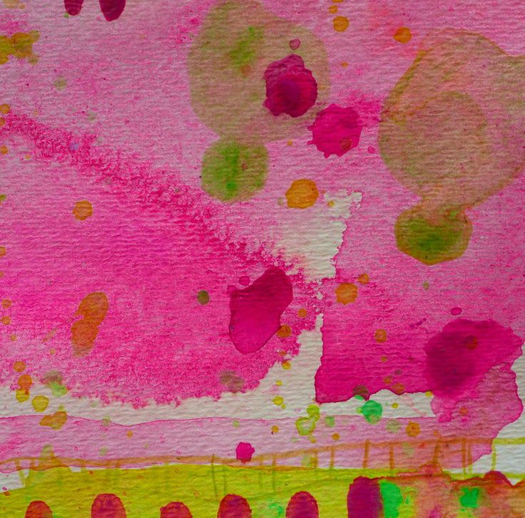 Sweet Dreams by Tracy Bonin abstract art, abstract painting, paper, acrylic, mixed media, pink, purple, green, yellow, home decor, breast cancer awareness, modern art, contemporary art