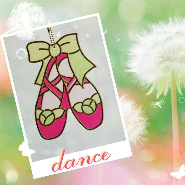 日本玻璃拼貼作品~舞鞋~