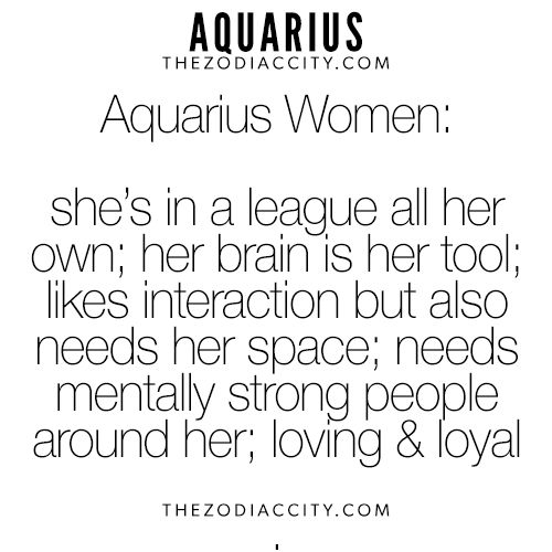 Sign For Woman Is Aquarius What The Best
