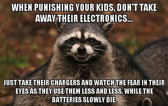 """Lovely, CREATIVE Parenting! Seems like this would be more """"painful,"""" for sure, bahahahaha!"""