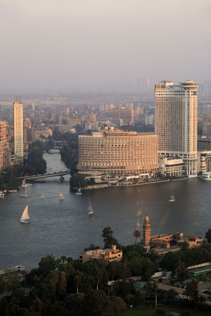 View from the Cairo Tower, the top of thre tower rotates around as you enjoy drinks and food.