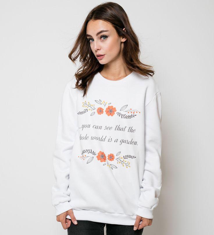 World is a garden sweater, Mr. GUGU & Miss GO