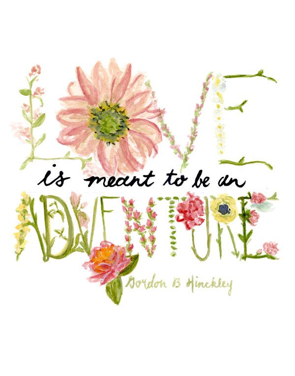 Watercolor Wednesday: Love Is An Adventure | theglitterguide.com