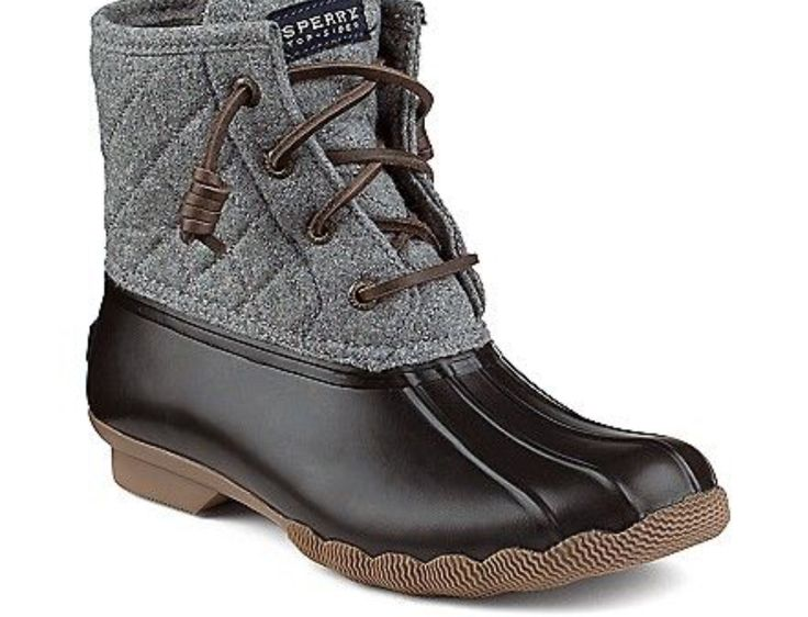 Sperrys gray duck boots