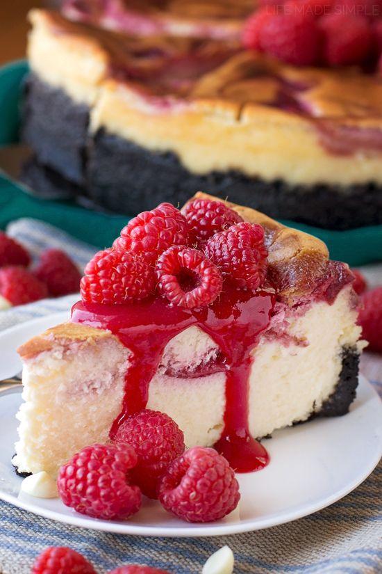 Gâteau Au Fromage Au Chocolat Blanc Aux Framboises | lifemadesimplebak …   – Food & Drink