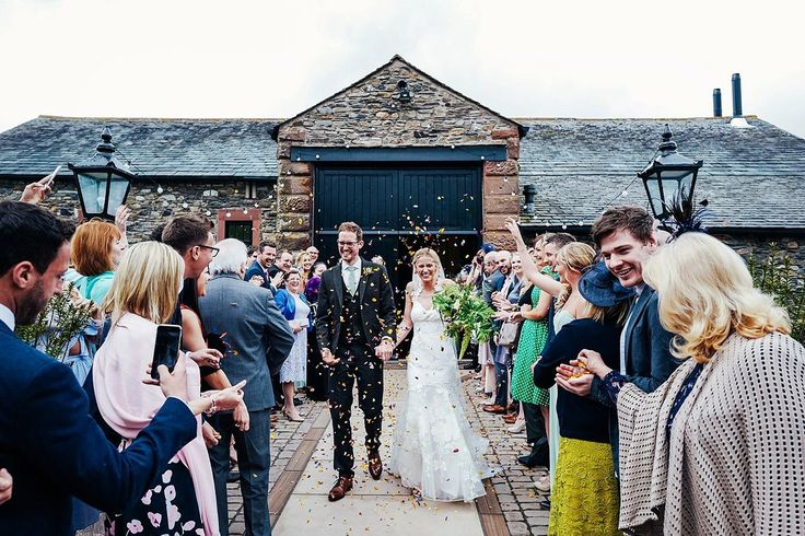Bride and Groom from a laid back, fun and elegant Lake District Wedding. Photography by Lisa Aldersley.
